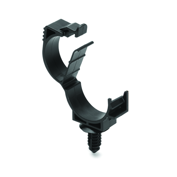 LOC Locking Clamp, 20-25 mm, with 6.5 mm Fir Tree, PA66HIRHSUV, Black, 1000/ctn