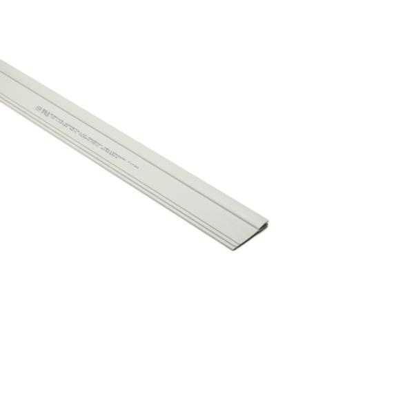 InfoStream Multi-Channel Raceway Center Divider, 8 ft Long, PVC, Office White, 96ft/pkg