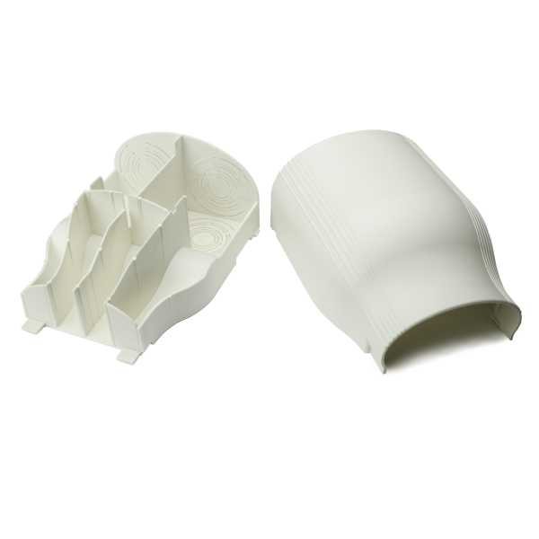 InfoStream Multi-Channel Raceway Entrance End Fitting, PVC, Office White, 1/pkg
