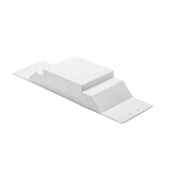 InfoStream Multi-Channel Raceway Offset Bridge, PVC, Office White, 1/pkg