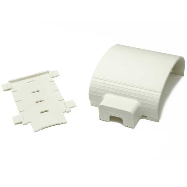 InfoStream Multi-Channel Raceway Power Transition Fitting, PVC, Office White, 1/pkg