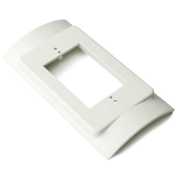 InfoStream Multi-Channel Raceway Raised Device Bracket Fitting, HIPS, Office White, 10/pkg