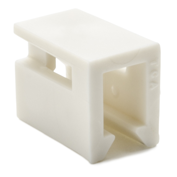 InfoStream Multi-Channel Raceway, Cable Tie Mount, PVC, Office White, 100/pkg