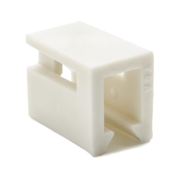 InfoStream Multi-Channel Raceway, Cable Tie Mount, HIPS, Office White, 100/pkg