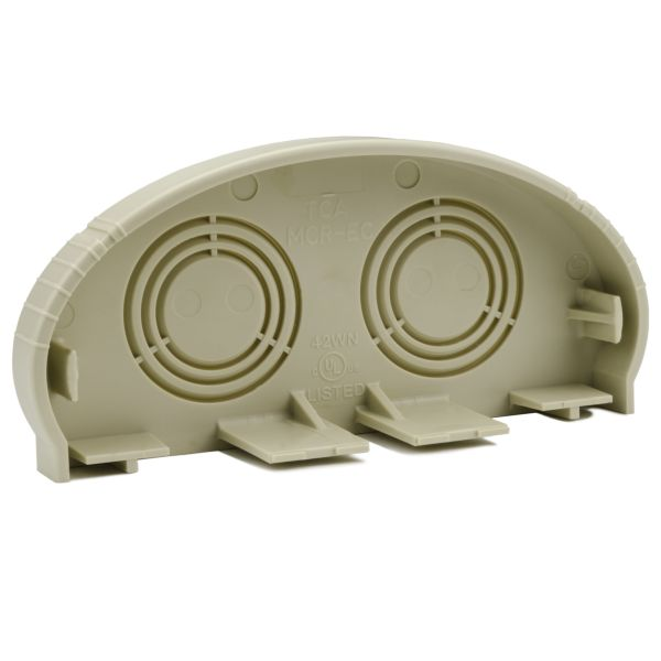 InfoStream Multi-Channel Raceway End Cap, PVC, Ivory, 1/pkg