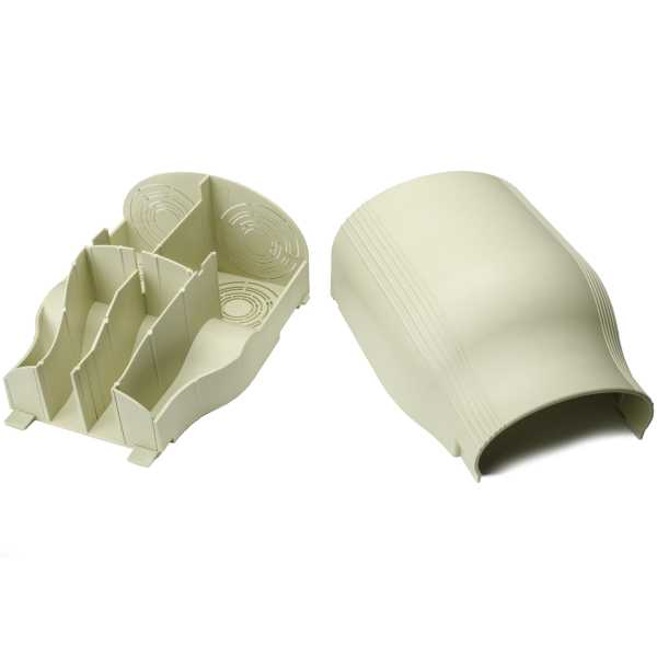 InfoStream Multi-Channel Raceway Entrance End Fitting, PVC, Ivory, 1/pkg