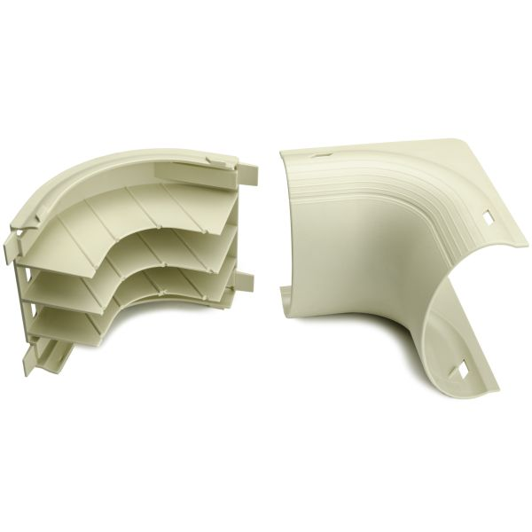 InfoStream Multi-Channel Raceway Elbow, PVC, Ivory, 1/pkg