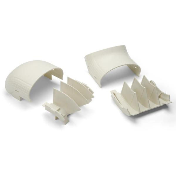 InfoStream Multi-Channel Raceway Offset Elbow, ABS/HIPS, Ivory, 1/pkg