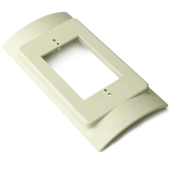 InfoStream Multi-Channel Raceway Raised Device Bracket Fitting, PVC, Ivory, 1/pkg