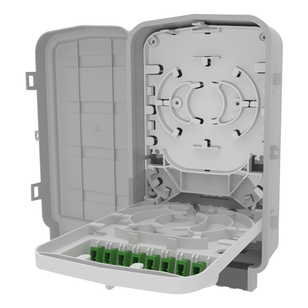 S1 Enclosure, 10–15 mm, LC-PC Simplex, With Adapters Installed, Gray, 1/pkg
