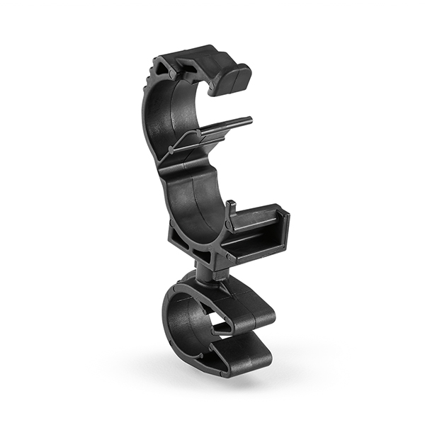LOC Locking Clamp, 10-14 mm, to MOC Clip, 10 mm, PA66HIRHSUV, Black, 2000/ctn