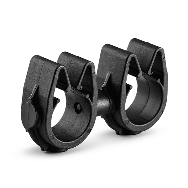 MOC Clip to MOC Clip, 12 mm, 12 mm, PA66HIRHSUV, Black, 2000/ctn