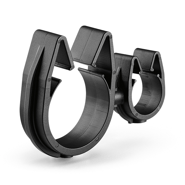 MOC Clip to MOC Clip, 14 mm, 26 mm, PA66HIRHSUV, Black, 1000/ctn