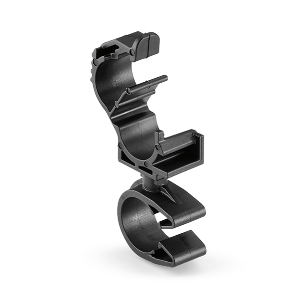 LOC Locking Clamp, 5-9 mm, to MOC Clip, 14 mm, PA66HIRHSUV, Black, 1000/ctn
