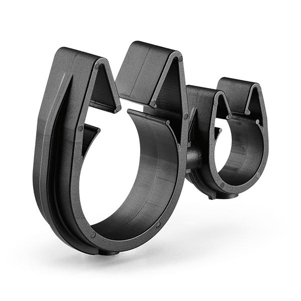 MOC Clip to MOC Clip, 16 mm, 26 mm, PA66HIRHSUV, Black, 2000/ctn
