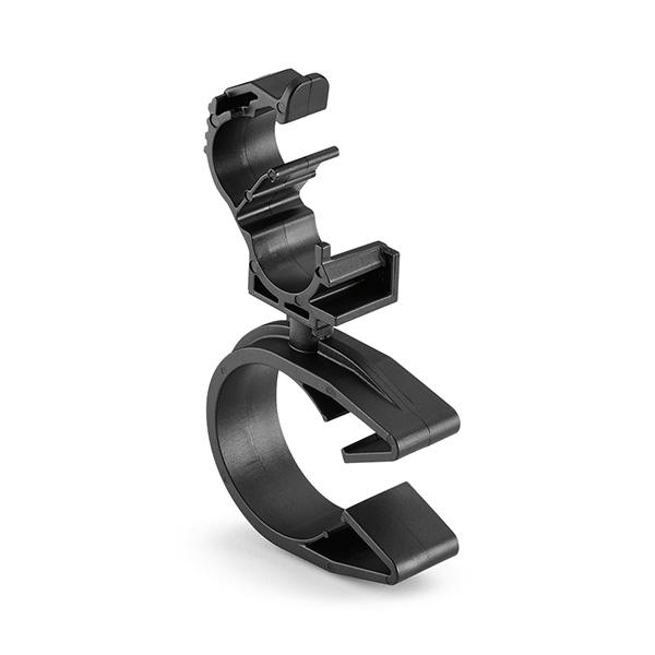 LOC Locking Clamp, 5-9 mm, to MOC Clip, 26 mm, PA66HIRHSUV, Black, 1000/ctn
