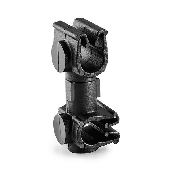 MOC Clip to MOC Clip Perpendicular, 5 mm, 5 mm Perpendicular, PA66HIRHSUV, Black, 2000/ctn