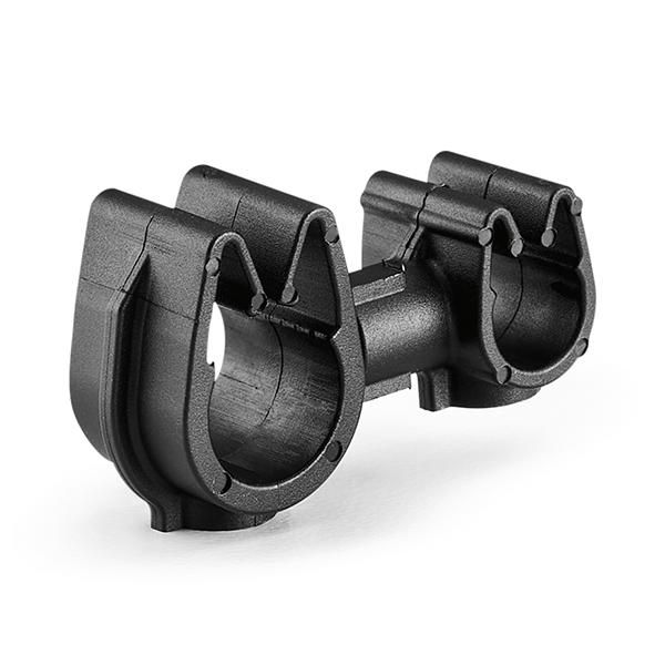 MOC Clip to MOC Clip, 5 mm, 9 mm, PA66HIRHSUV, Black, 2000/ctn