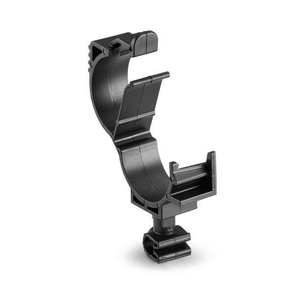 LOC Locking Clamp, 15-19 mm, to MOC Clip, 5 mm, PA66HIRHSUV, Black, 1000/ctn