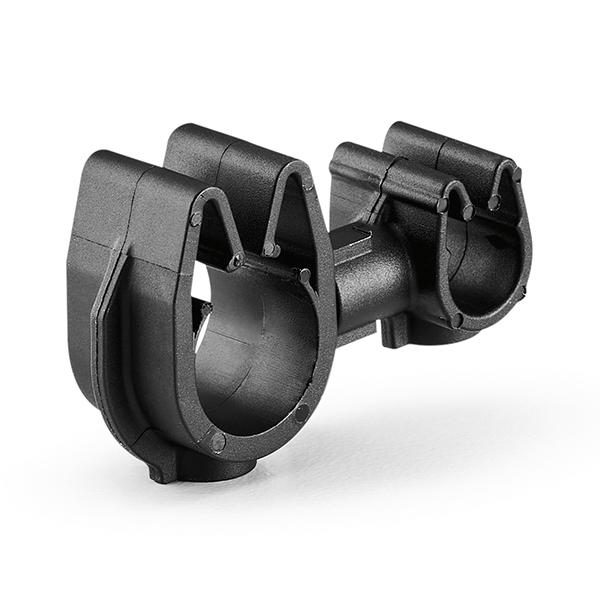 MOC Clip to MOC Clip, 6 mm, 10 mm, PA66HIRHSUV, Black, 2000/ctn