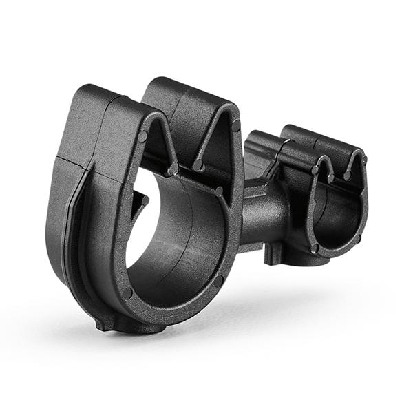 MOC Clip to MOC Clip, 6 mm, 12 mm, PA66HIRHSUV, Black, 2000/ctn