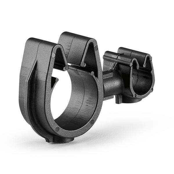 MOC Clip to MOC Clip, 6 mm, 14 mm, PA66HIRHSUV, Black, 1000/ctn