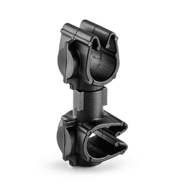 MOC Clip to MOC Clip Perpendicular, 6 mm, 6 mm Perpendicular, PA66HIRHSUV, Black, 2000/ctn