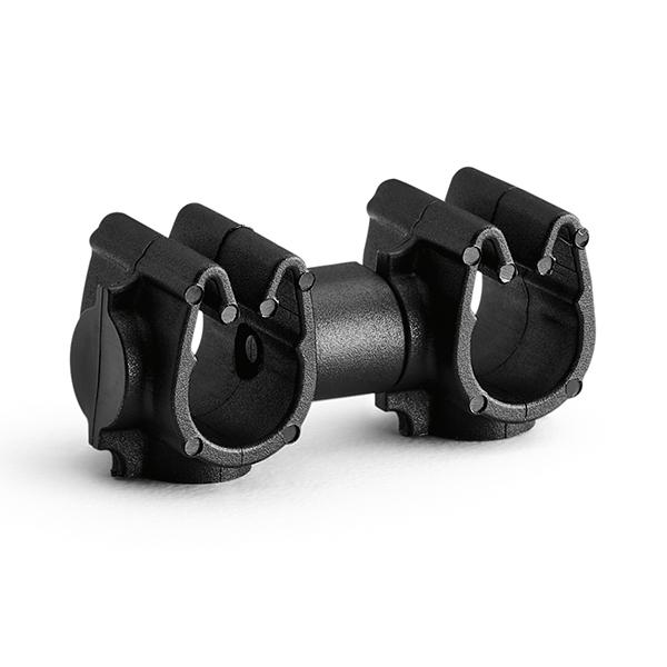 MOC Clip to MOC Clip, 6 mm, 6 mm, PA66HIRHSUV, Black, 500/ctn