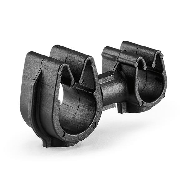 MOC Clip to MOC Clip, 6 mm, 9 mm, PA66HIRHSUV, Black, 2000/ctn