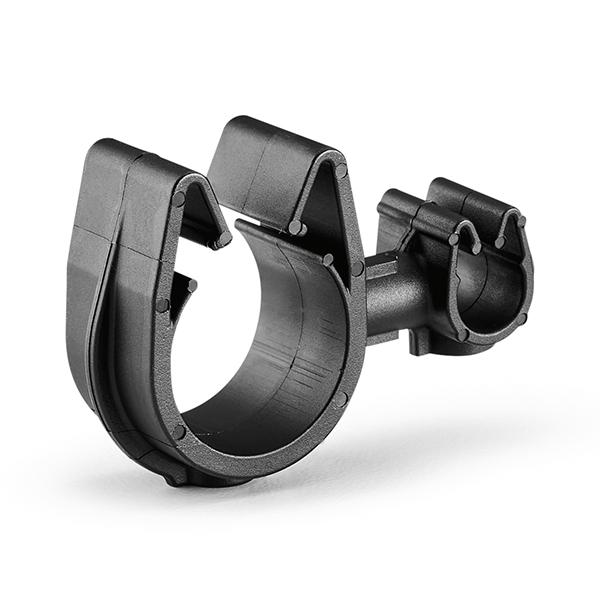 MOC Clip to MOC Clip, 7 mm, 16 mm, PA66HIRHSUV, Black, 2000/ctn