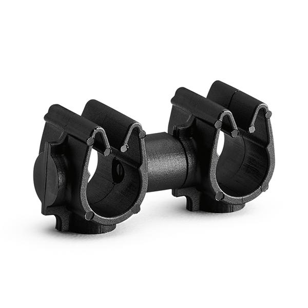 MOC Clip to MOC Clip, 7 mm, 7 mm, PA66HIRHSUV, Black, 2000/ctn