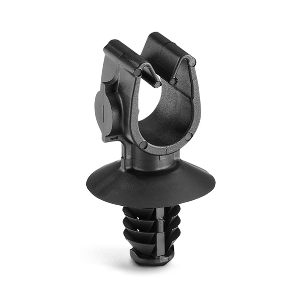 MOC Clip, 7 mm, with 6.5mm Fir Tree, PA66HIRHSUV, Black, 1000/ctn