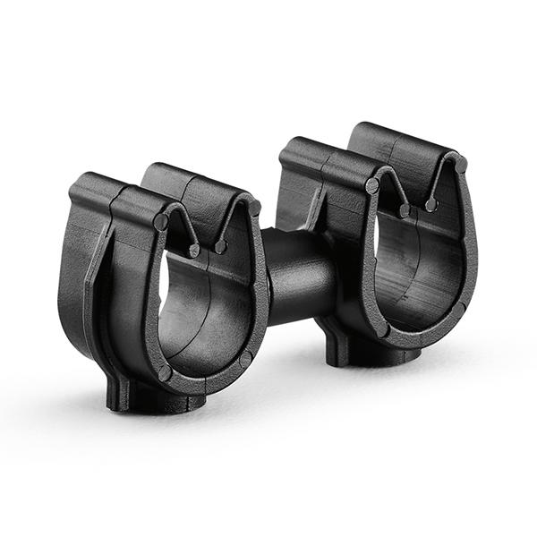 MOC Clip to MOC Clip, 8 mm, 8 mm, PA66HIRHSUV, Black, 1000/ctn