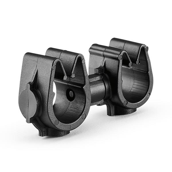 MOC Clip to MOC Clip, 8 mm, 9 mm, PA66HIRHSUV, Black, 2000/ctn