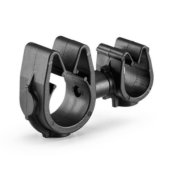 MOC Clip to MOC Clip, 9 mm, 12 mm, PA66HIRHSUV, Black, 2000/ctn