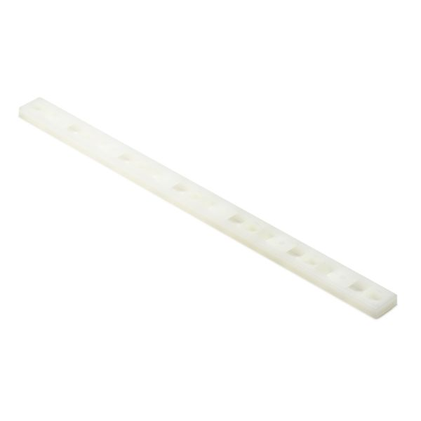 Cable Tie Mounting Plates, .50'' x 1.75'', T18-T50 Cable Ties, #6 (M3) Screw, PA66, Natural, 100/pkg