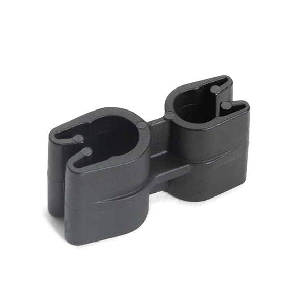 Tube and Pipe Clip 1x4 and 1x5mm Diameter, PA66HIRHSUV, Black, 10,000/ctn