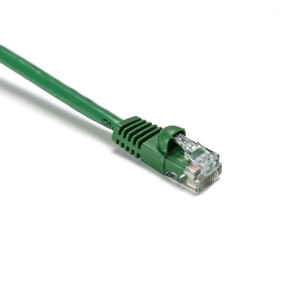 Category 5e patch cord, 25.0 ft, Green, 1/pkg