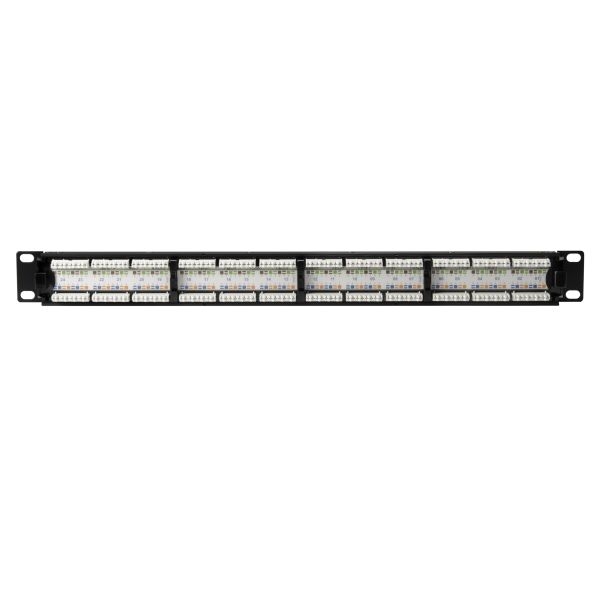 Category 6 Universal 24 Port Patch Panel, 1U, Black, 1/box