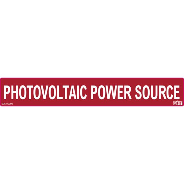 Solar Label, PHOTOVOLTAIC POWER SOURCE, 6.5