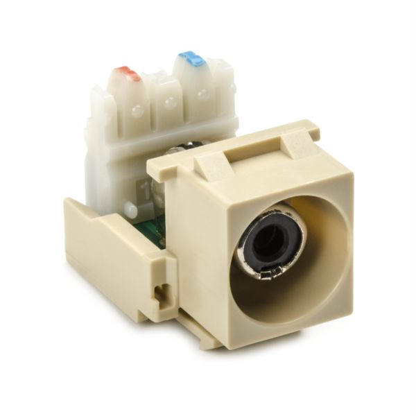 RCA-110 Connector Module With Black Stripe, Ivory, 1/pkg