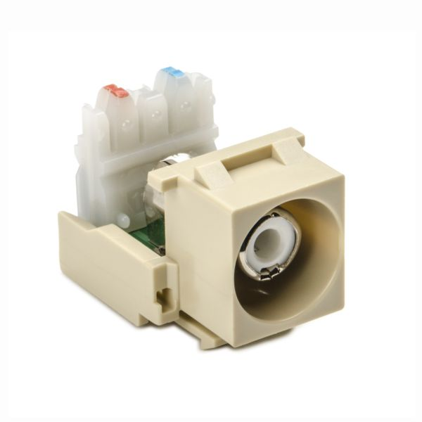 RCA-110 Connector Module With White Stripe, Ivory, 1/pkg