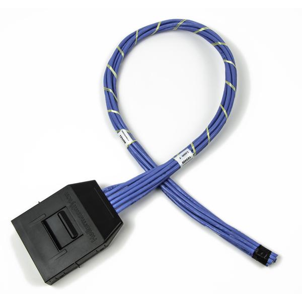 RapidNet CAT 6 UTP Cassette to Open, Plenum Cable, Blue, 6 port, 1/ctn