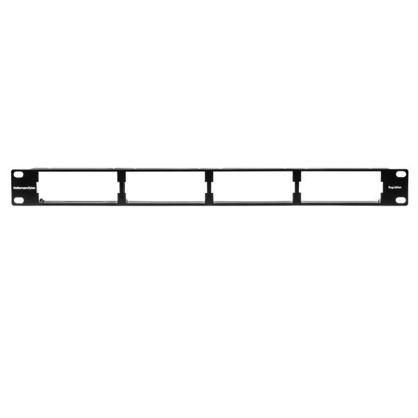 RNG Series High Density Modular Panel for High Density Cassette, 1U, Steel, Black, 1/ctn