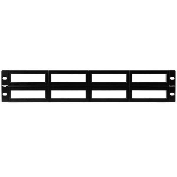 RNG Series Modular Panel with Rack-Snaps, 2U, Black, 1/ctn