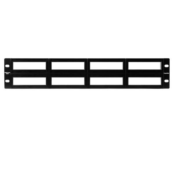RNG Series Modular Panel, 2U, Black, 1/ctn