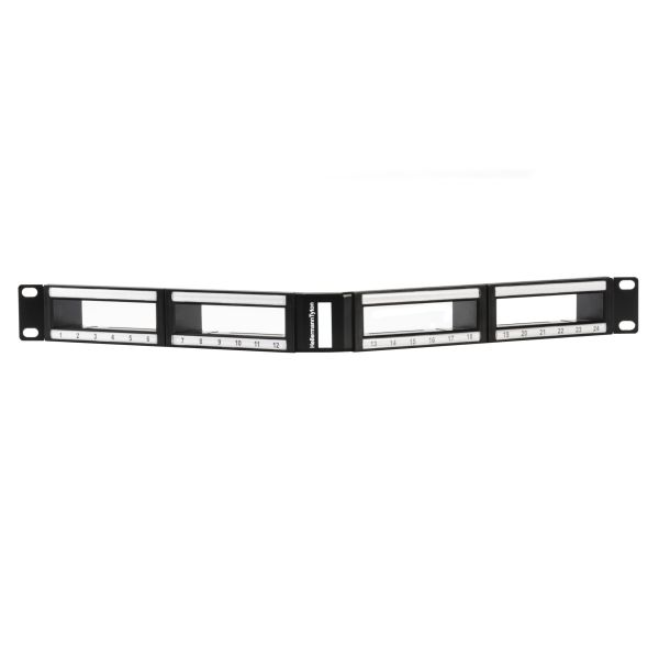 RNS Series Angled Modular Panel, 1U, Black, 1/ctn