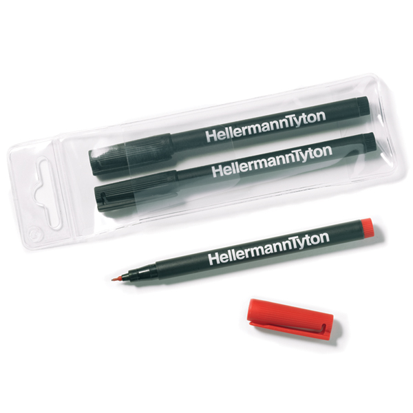 Felt Tip Pen, Black, 1/pkg