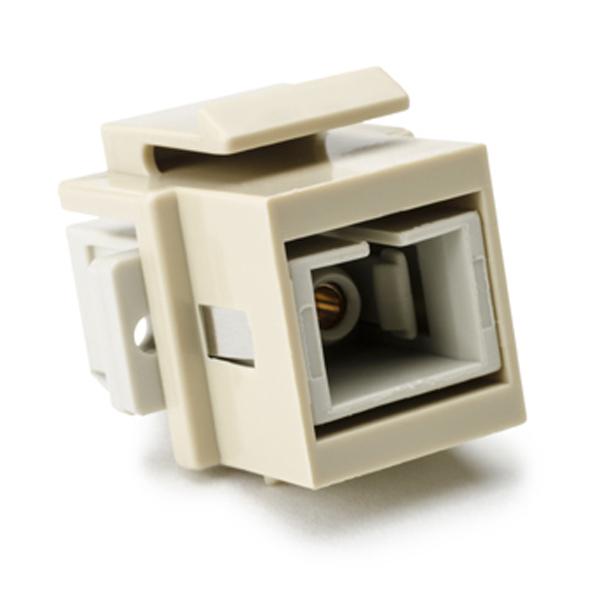 SC Multimode Fiber Insert, Beige, Ivory, 1/pkg