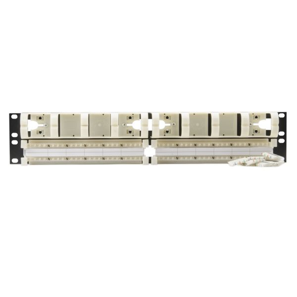 Category 6 96 Pair Rack Mount Kit With Cable Trough, 2U, 1/pkg